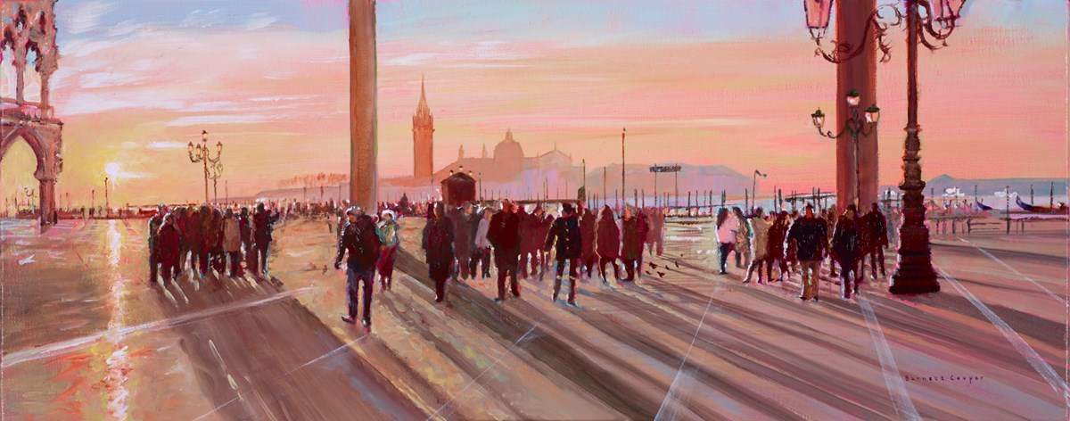 Early Morning, St Marks by hilary burnett cooper -  sized 30x12 inches. Available from Whitewall Galleries